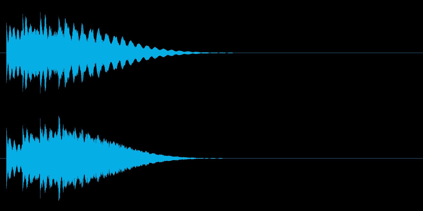 日常系4 ノーマルカード入手 正解の再生済みの波形