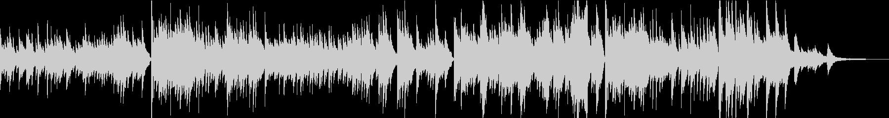感動的で前向きなピアノ独奏曲の未再生の波形