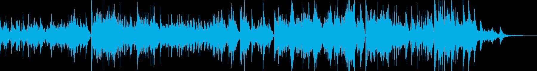 感動的で前向きなピアノ独奏曲の再生済みの波形