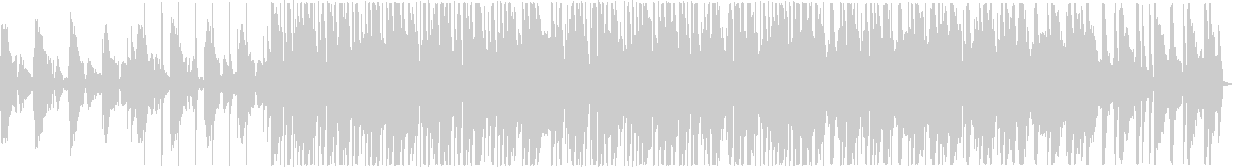 ノリの良いLo-Fiビートの未再生の波形