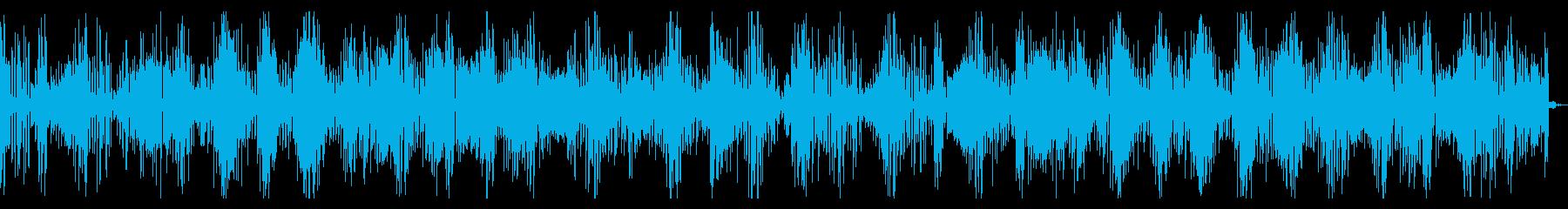 緊迫感のあるインダストリアルテクノの再生済みの波形