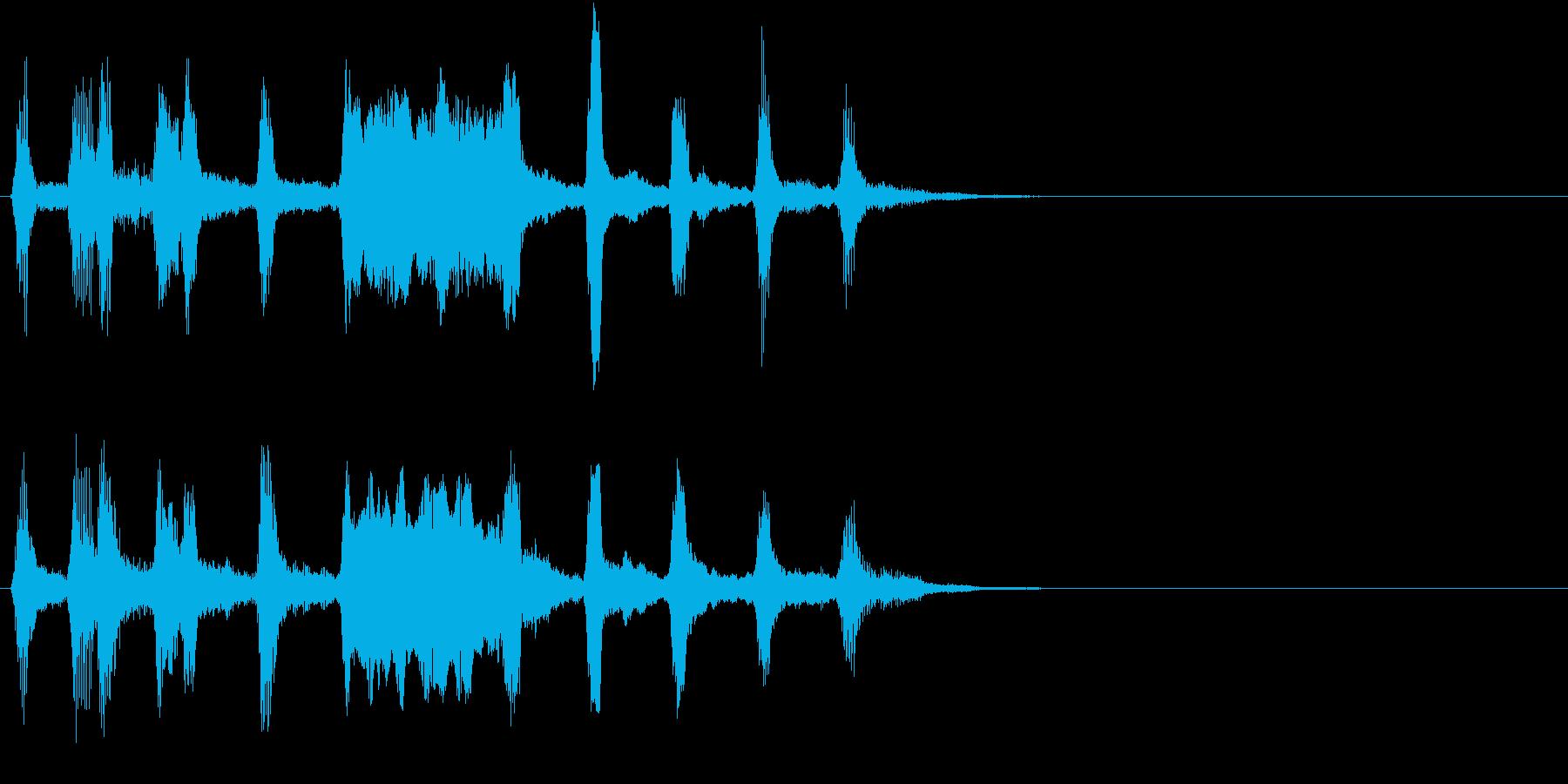 ハロウィン モンスター 不気味ジングル1の再生済みの波形