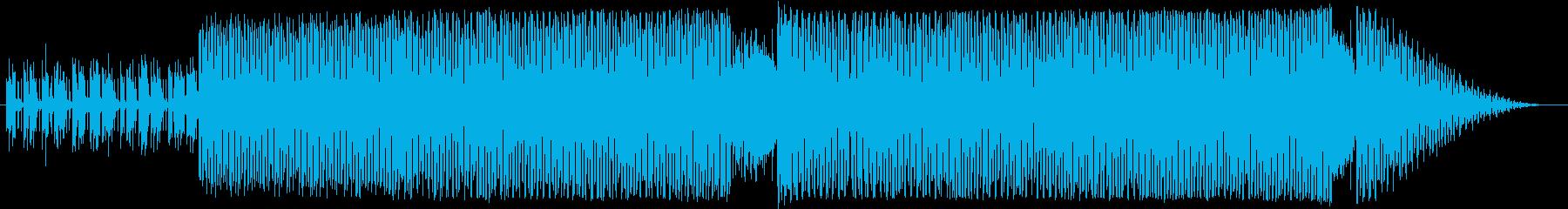 疾走感のあるノリノリテクノ曲の再生済みの波形