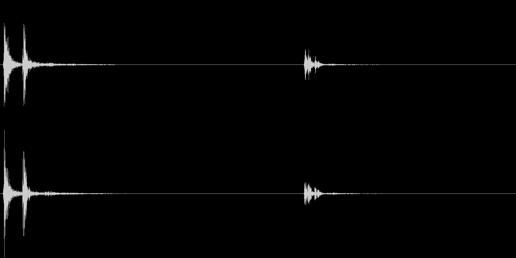 【生録音】お箸の音 15 おかずを取るの未再生の波形