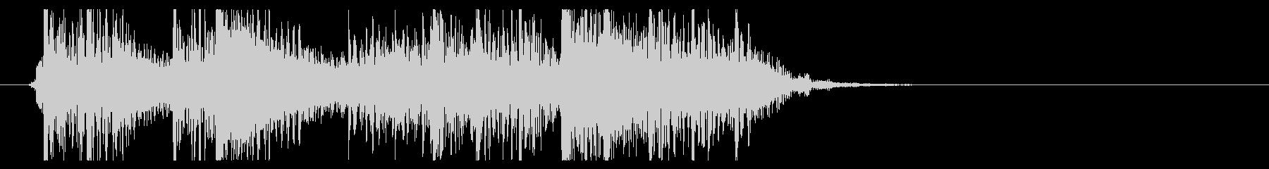ヘヴィイメタル風のジングルの未再生の波形