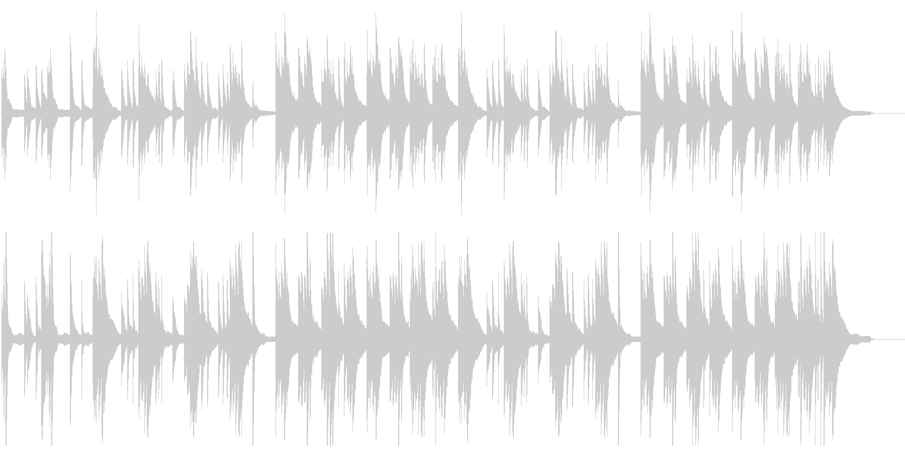 ゆったりと優雅なピアノBGMの未再生の波形
