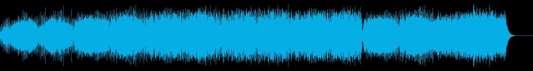 映画のエンドロール的な雰囲気のあるBGMの再生済みの波形