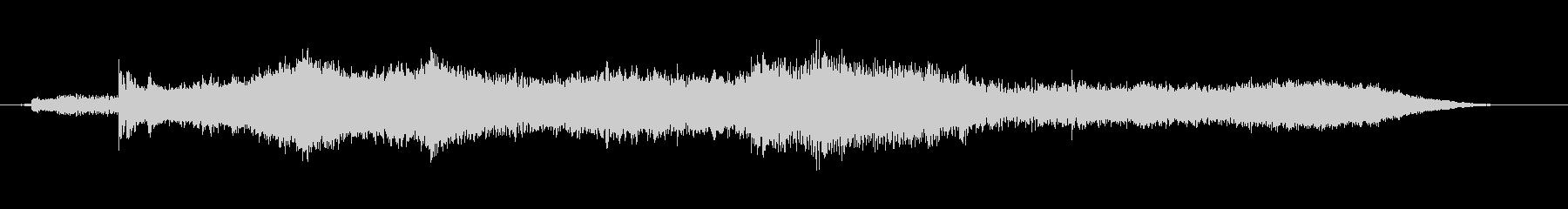 不気味なベルのアイキャッチ音の未再生の波形