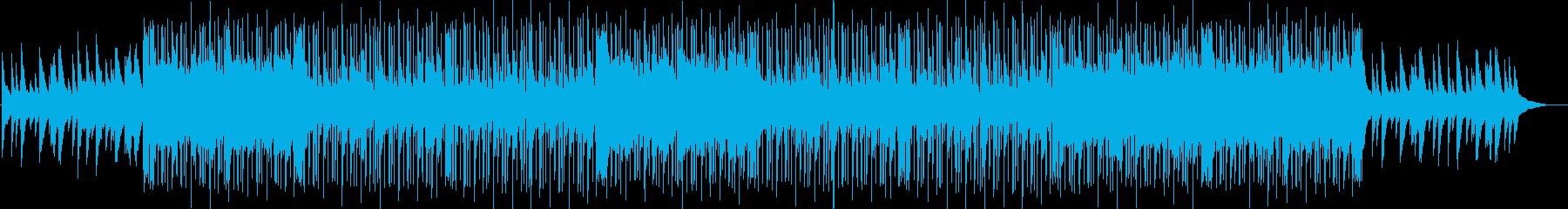 切ないピアノメインのチルヒップホップの再生済みの波形
