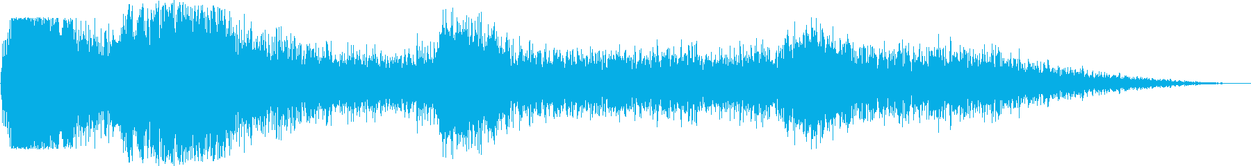 火の玉バーストとRo音の背景構造の...の再生済みの波形