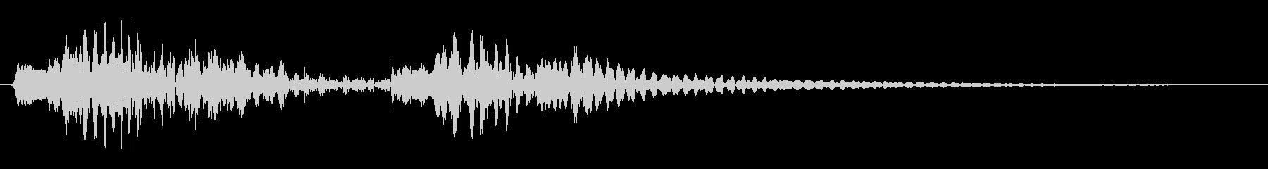 木琴やグロッケンのかわいらしい効果音の未再生の波形