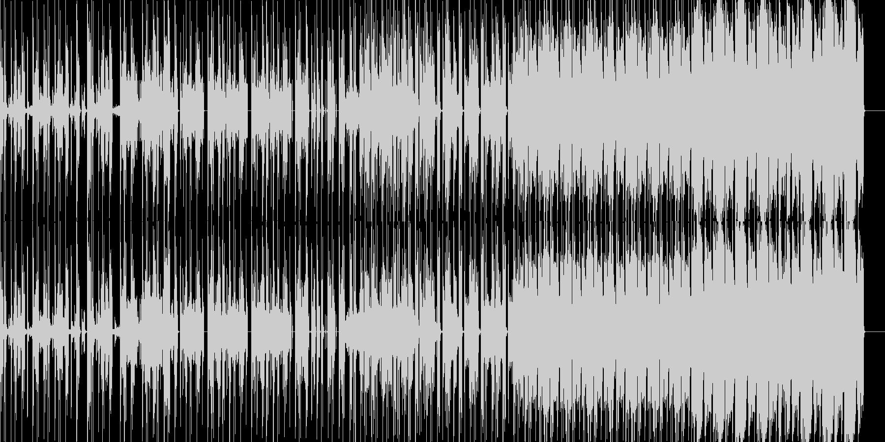 ほのぼのした雰囲気のヒップホップの未再生の波形