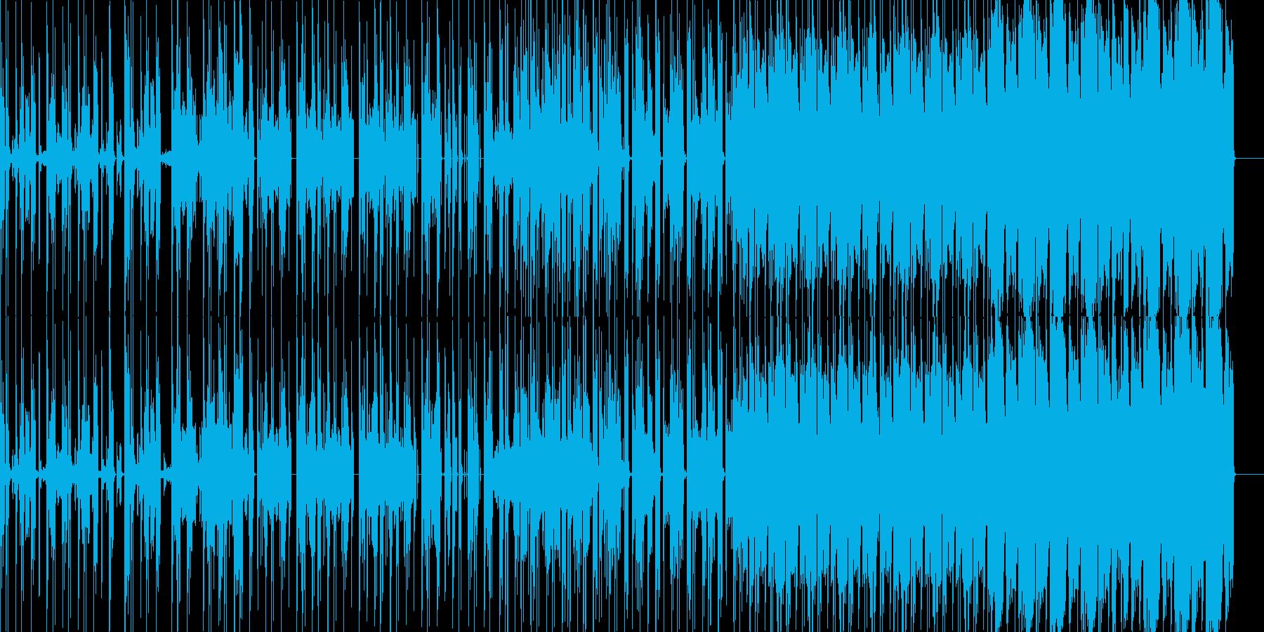 ほのぼのした雰囲気のヒップホップの再生済みの波形