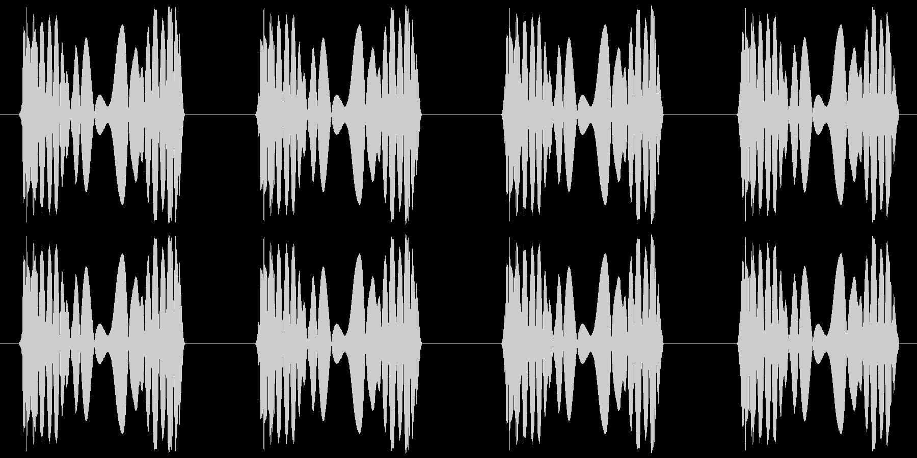 ジュクジュク(レコードスクラッチ4回)の未再生の波形