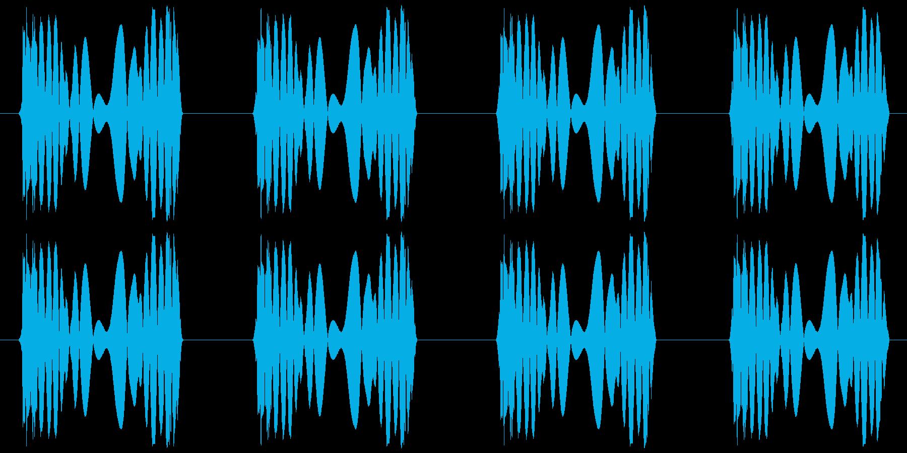 ジュクジュク(レコードスクラッチ4回)の再生済みの波形