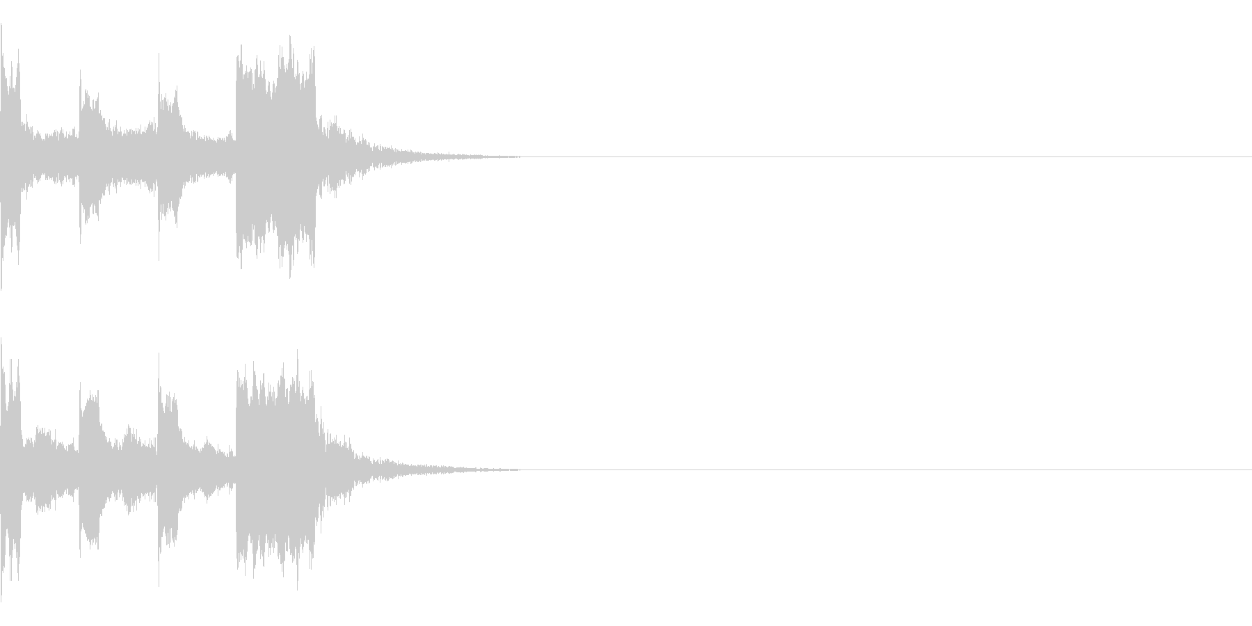 カウントダウン&スタート!(サイバー風)の未再生の波形