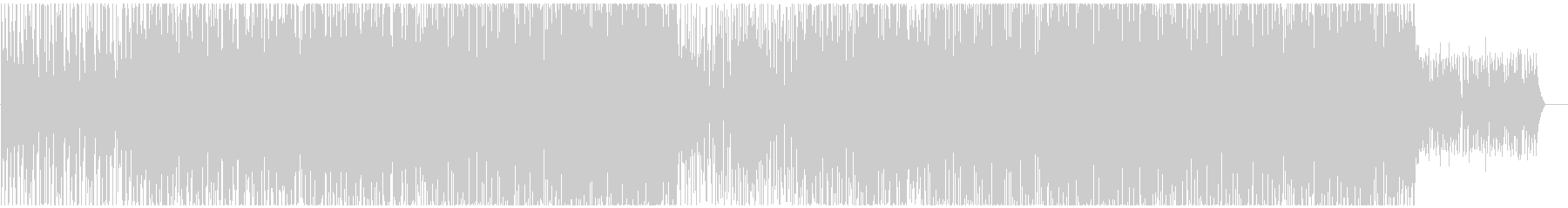 ウキウキするようなトロピカルハウスの未再生の波形