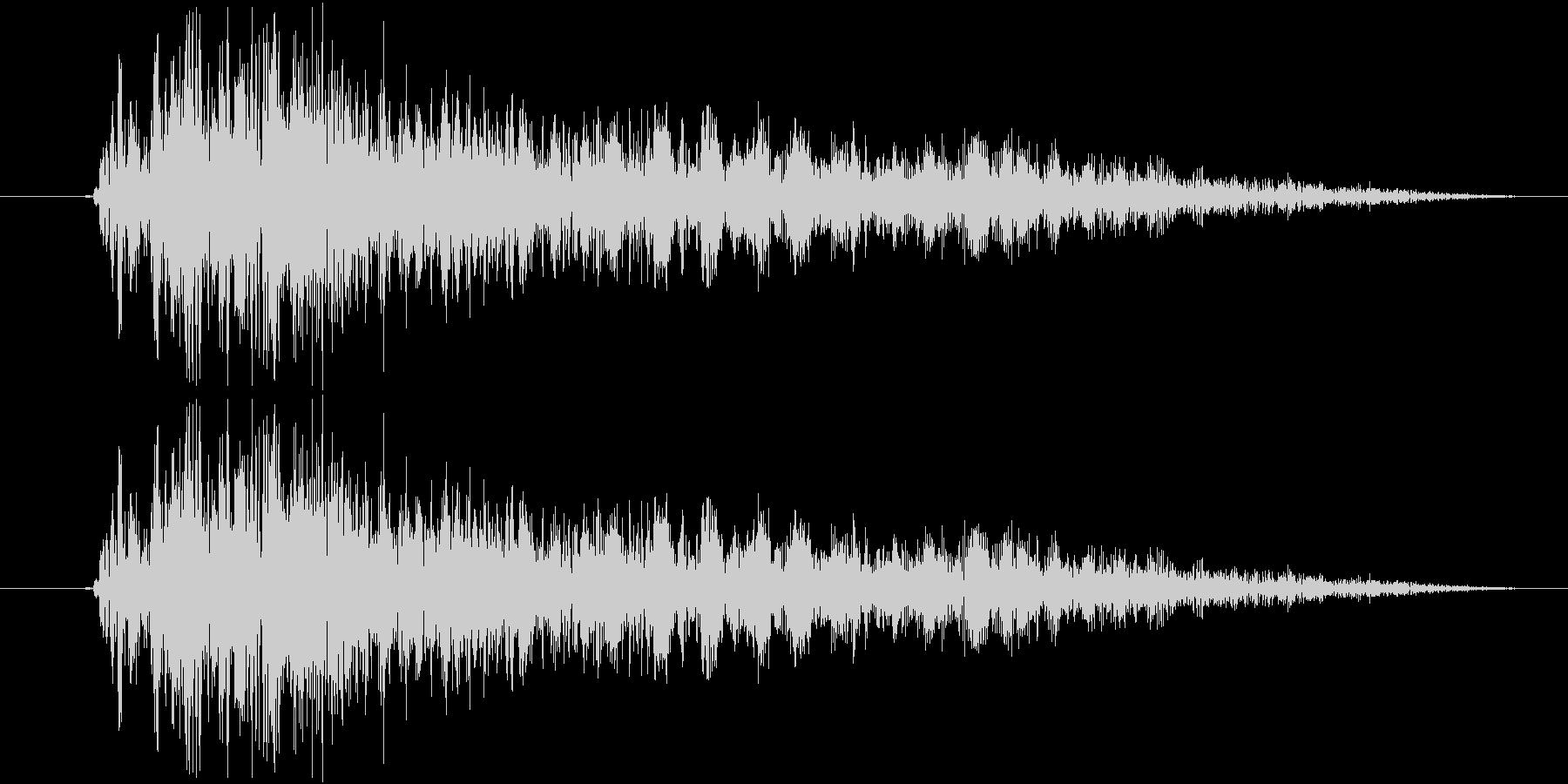 シューティングのショット音 5段階の4の未再生の波形