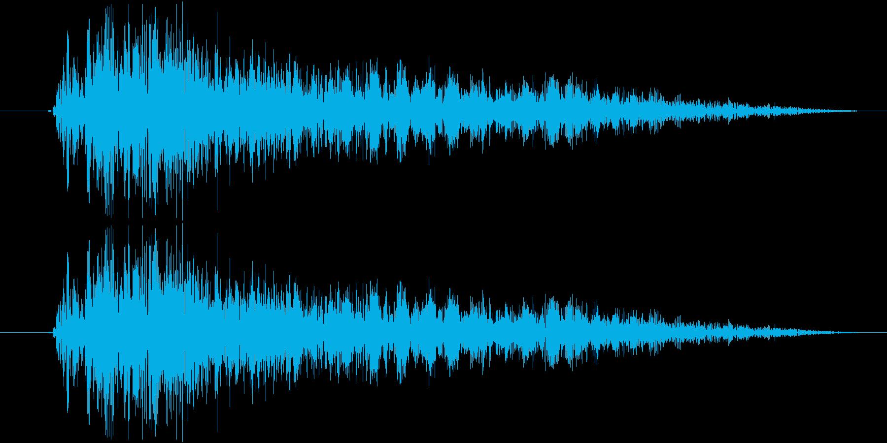 シューティングのショット音 5段階の4の再生済みの波形