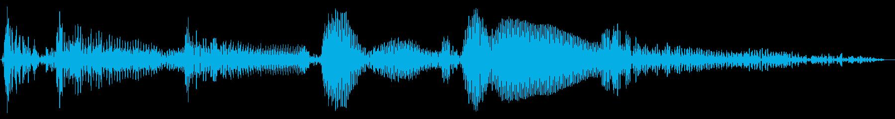 明るいアップライトベースのジングルの再生済みの波形