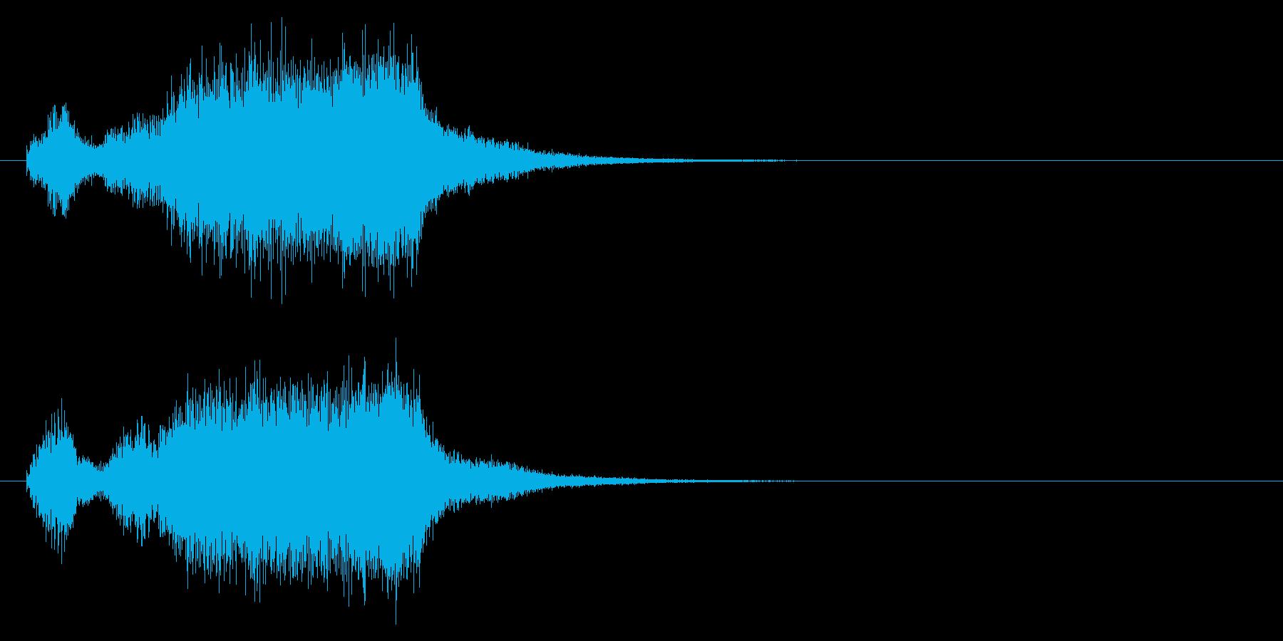 勝利したようなブラスバンドファンファーレの再生済みの波形