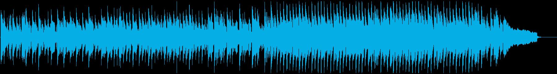 明るいリコーダー、軽快な跳ねるリズムの再生済みの波形