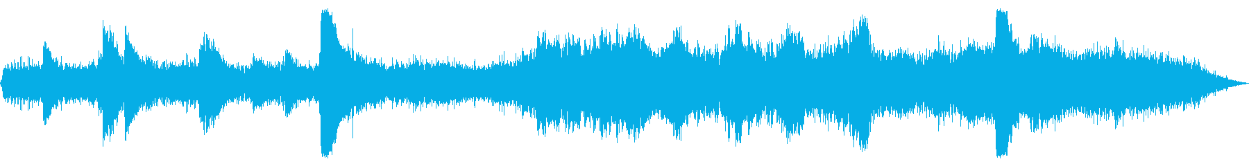 アンビエント風なホラー【ピアノ・ベル】の再生済みの波形