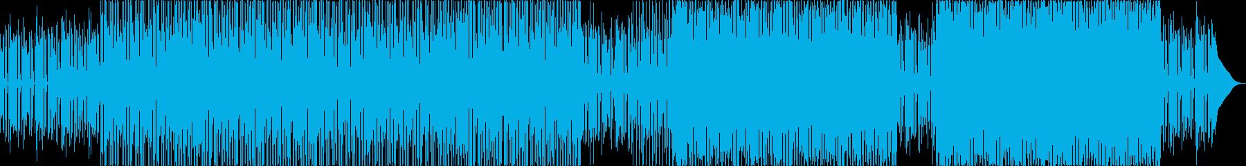 ファンキーでブルージーなおしゃれロックの再生済みの波形
