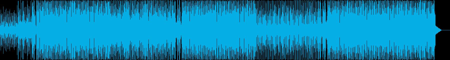 癖のないシンプルで、清潔感のあるEDMの再生済みの波形