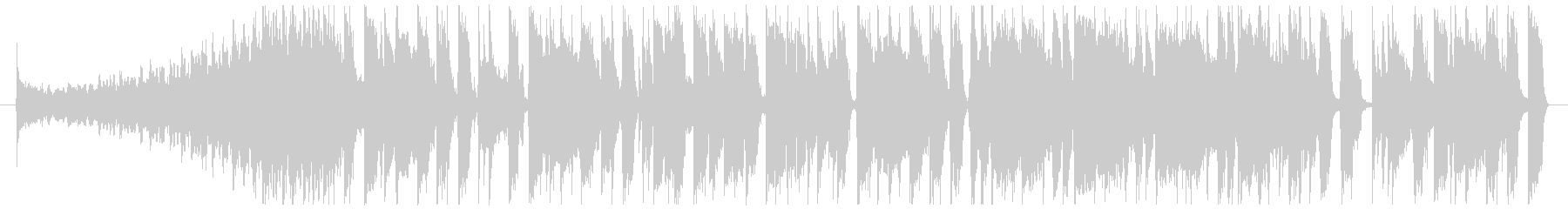 ワイルドなブルージーロックBGM 35秒の未再生の波形