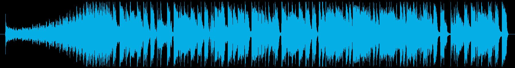 ワイルドなブルージーロックBGM 35秒の再生済みの波形