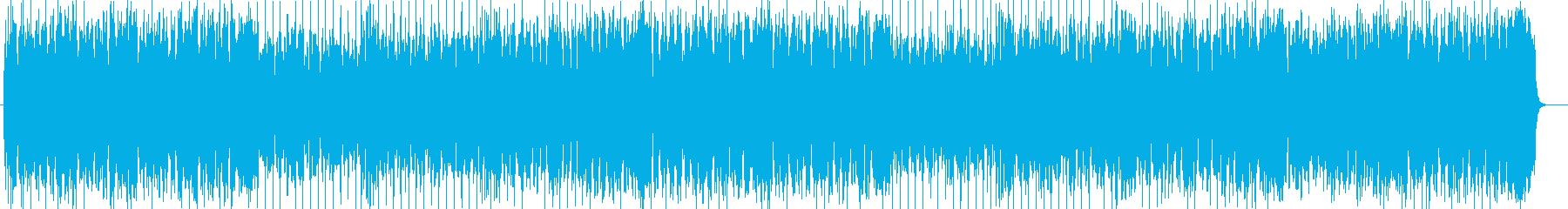 ハネたミドルテンポの爽やかBGMの再生済みの波形