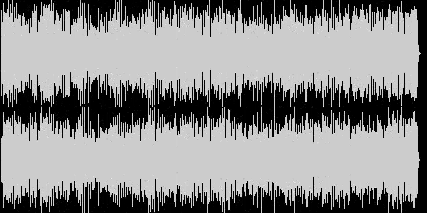ハネたミドルテンポの爽やかBGMの未再生の波形