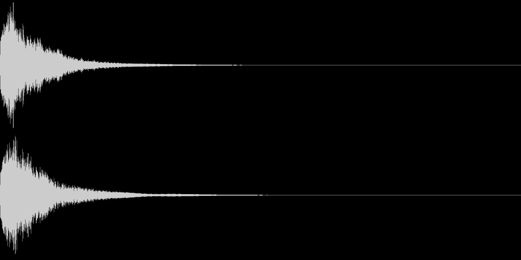 刀 一撃 キュイーン キーン 斬撃 01の未再生の波形