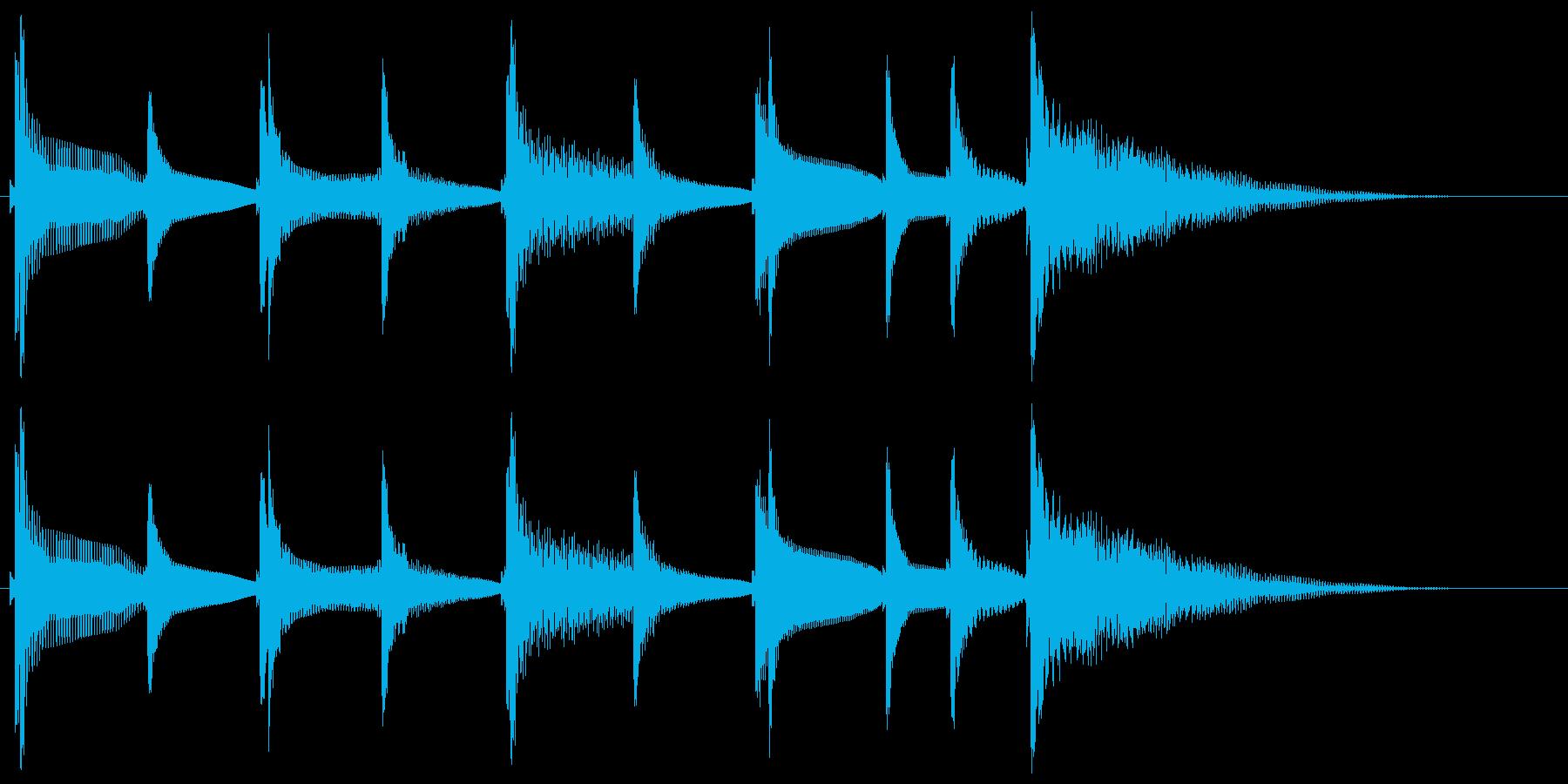 沖縄風通知音2の再生済みの波形