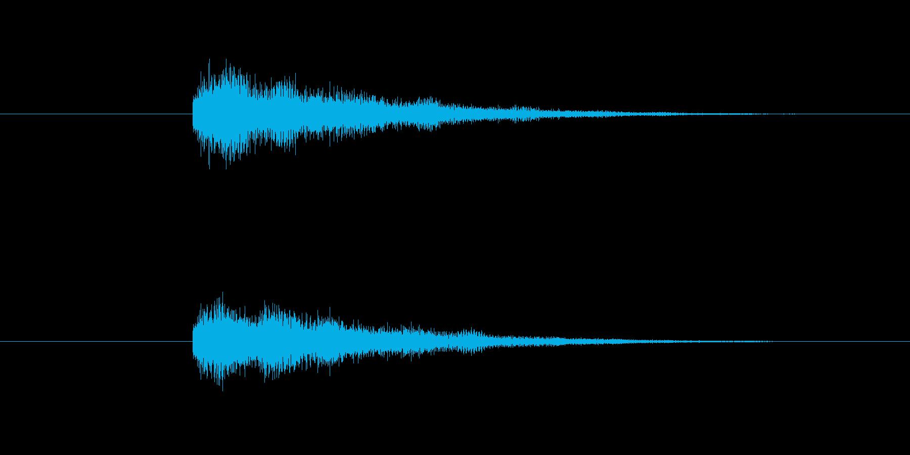 クイズの早押しボタン音、エラー音の再生済みの波形