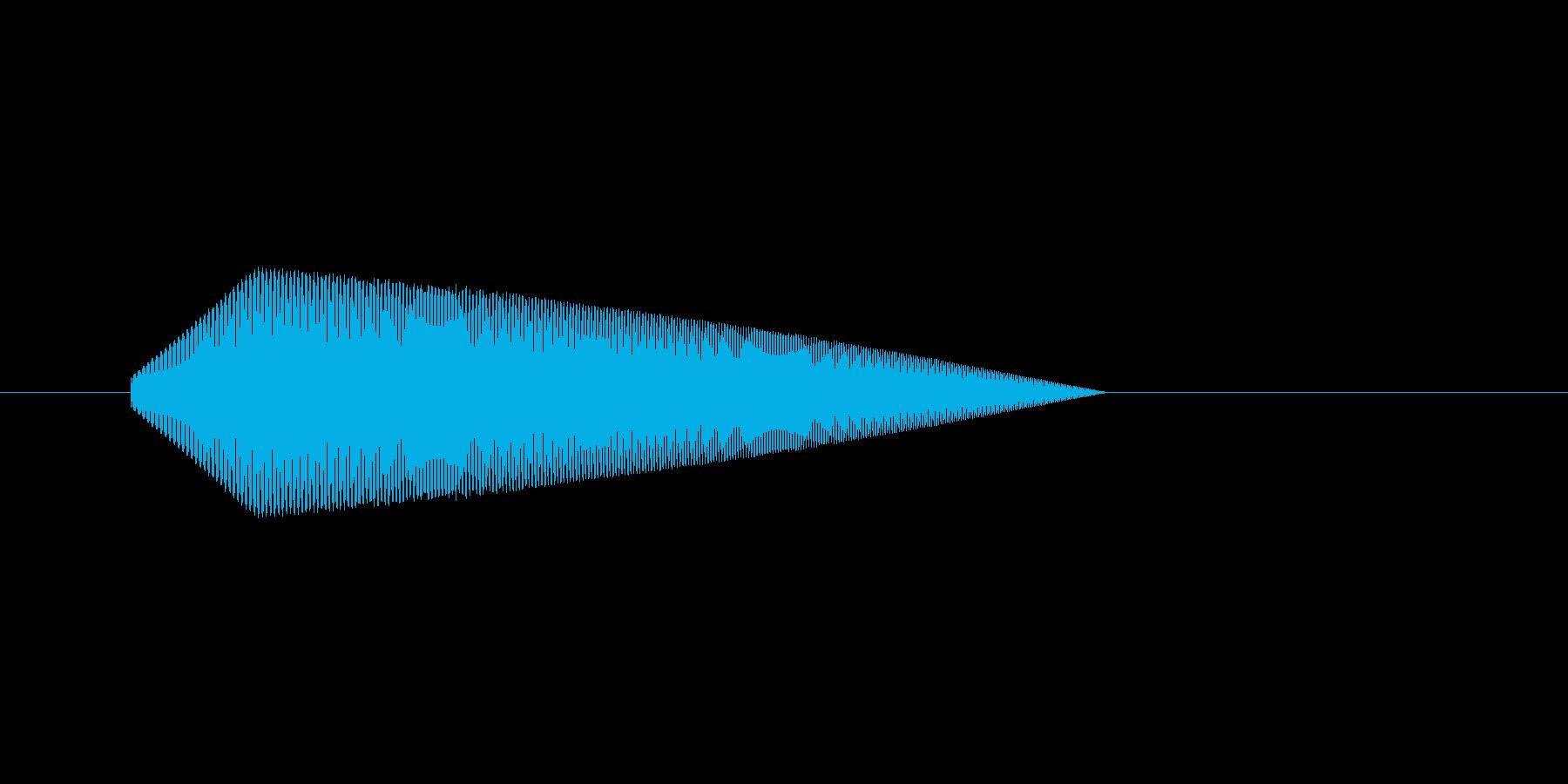 8bitのジャンプ音2 ぴょーんの再生済みの波形