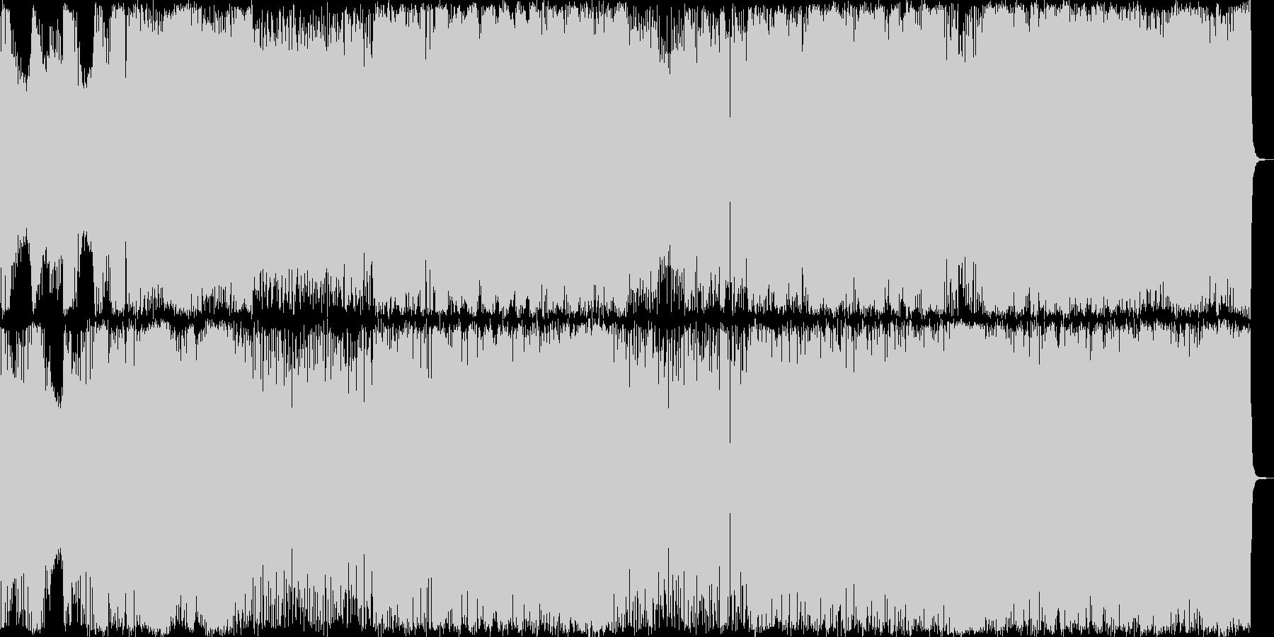 日本の王道的なエレクトロポップ曲です。の未再生の波形