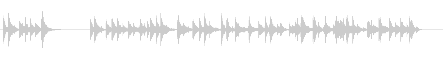 チャイム-タッチの未再生の波形