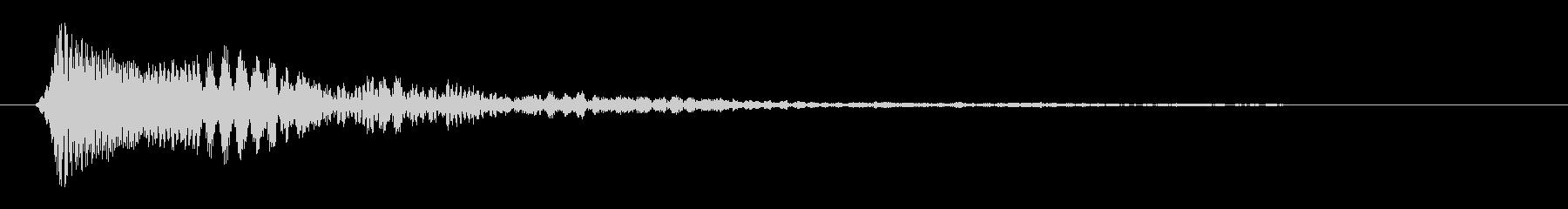 ピン(クリックしたとき)の未再生の波形
