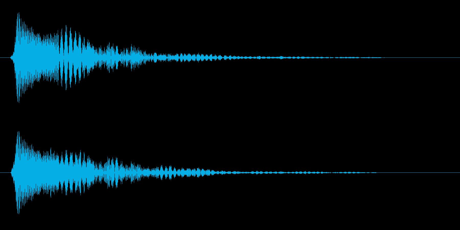 ピン(クリックしたとき)の再生済みの波形