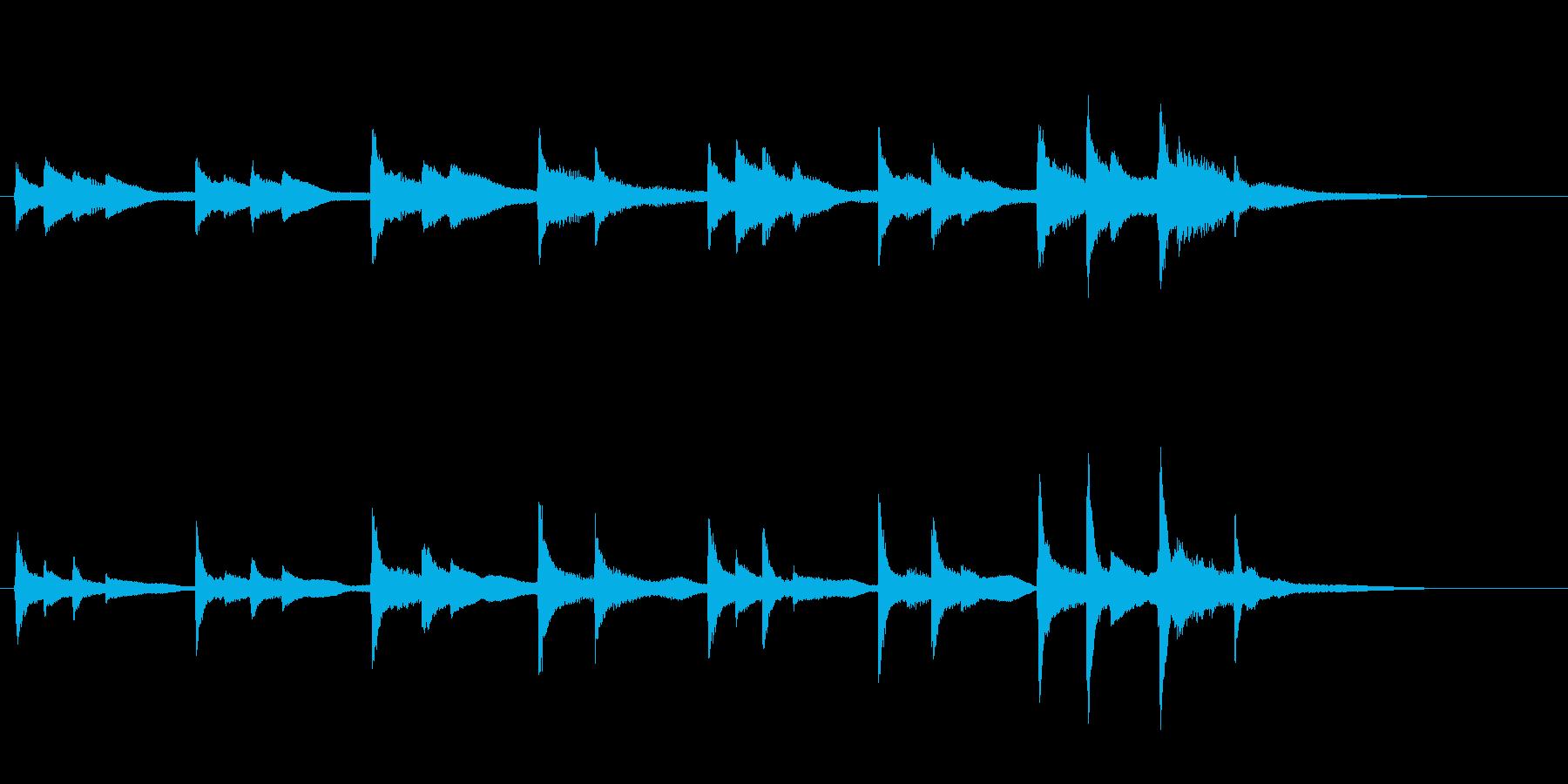 張りつめた気持ちを表すピアノ曲の再生済みの波形