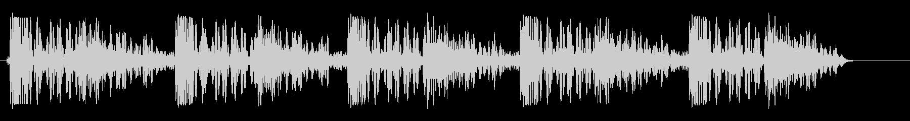パシパシパシッ(張り手されたような音)の未再生の波形