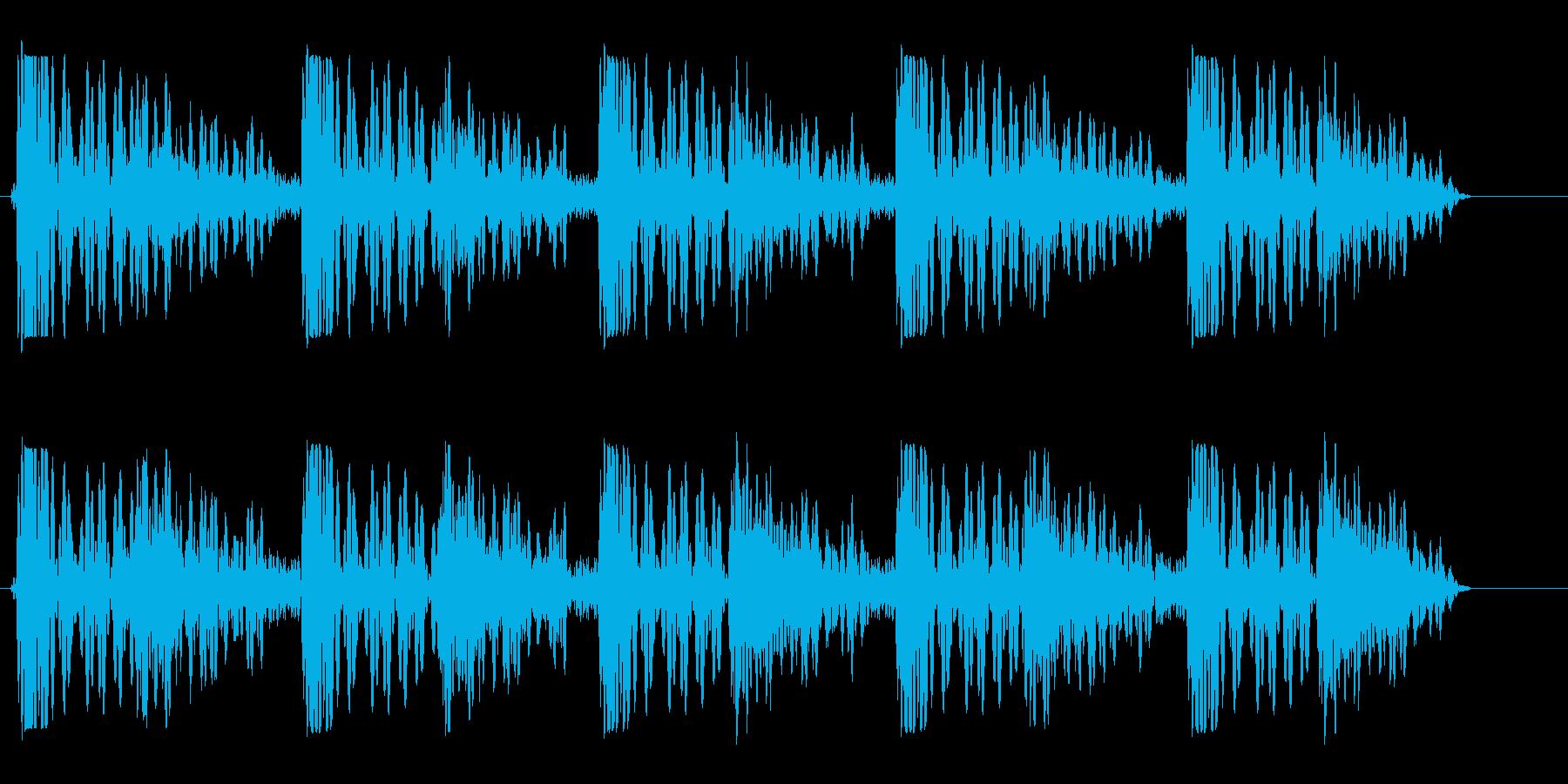 パシパシパシッ(張り手されたような音)の再生済みの波形