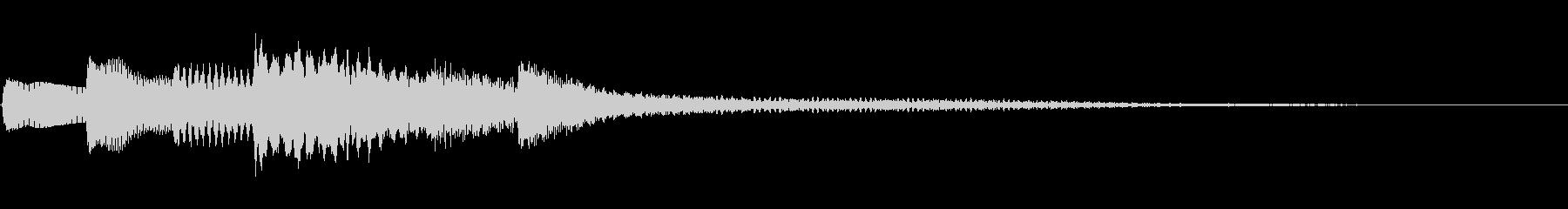 不協和音を生かした切ないピアノジングルの未再生の波形
