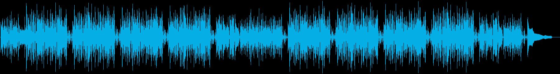 おしゃれなジャズテイストの楽しいボサノバの再生済みの波形