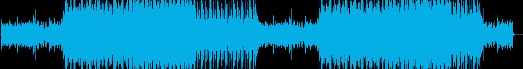 ピアノ主体のテクスチャー曲の再生済みの波形