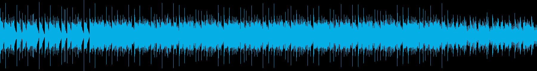 王道の四つ打ちサウンドの再生済みの波形