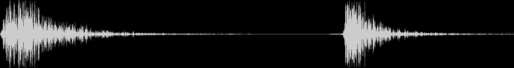 カチッ(マウスのクリック音)の未再生の波形