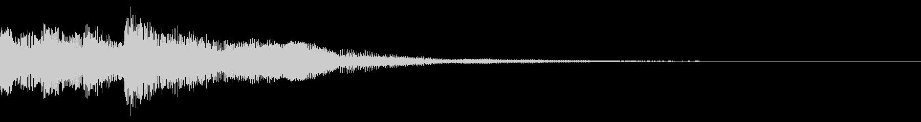 ニュースのテロップをイメージした音03の未再生の波形